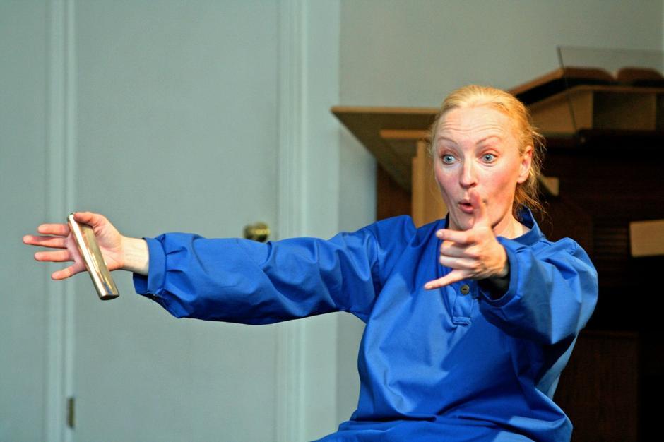 Skuespiller Jeanne Bøe som Peer Gynt