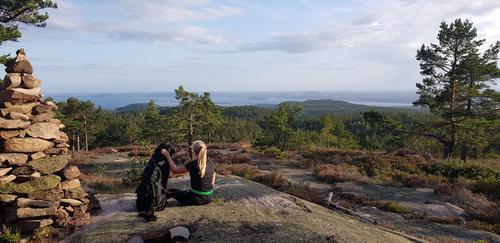 På topptur i Svelvik