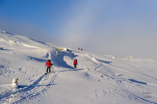 Fantastiske forhold i fjellet