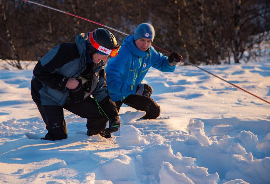 Svein Helge og Steinar jakter forulykket sekk