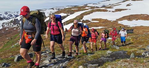 På vei til neste hytte på Fjordruta.