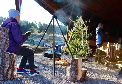 Julepyntet på Lauvesetra