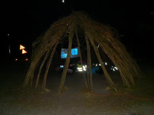 Kino i piletrehytta på Gramstad