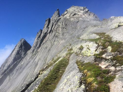 Østkammen opp mot toppen av Kugelhornet