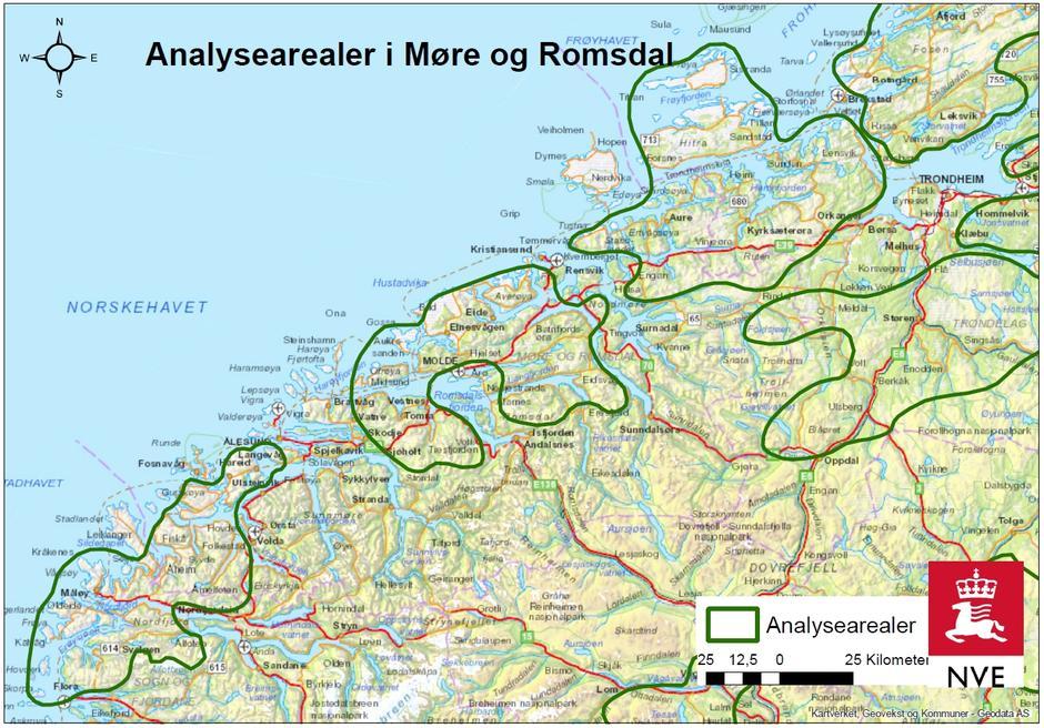 NVEs plankart for områder i Møre og Romsdal