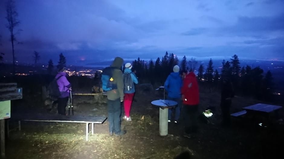 Kveldstur til Bjørgeberget i oktober 2021.