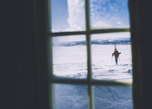Å komme inn til en hytte etter en krevende topptur er  ubeskrivelig.