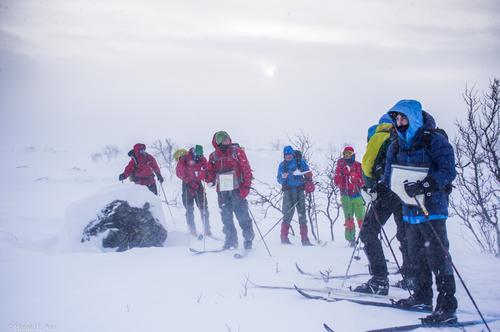 Vinterturlederkurs Gappohytta. Orientering i krevende vinterterreng.