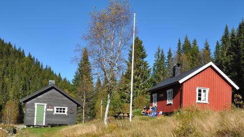 Sommerseter i Luksefjell er dn siste hytta for turen.