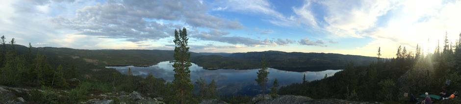 Panorama fra Kviturden (950 moh)