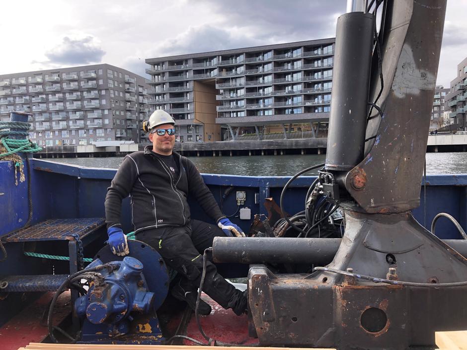 Morten Nordenson fra Dykkerteknikk er klar for et viktig dugnadsoppdrag.