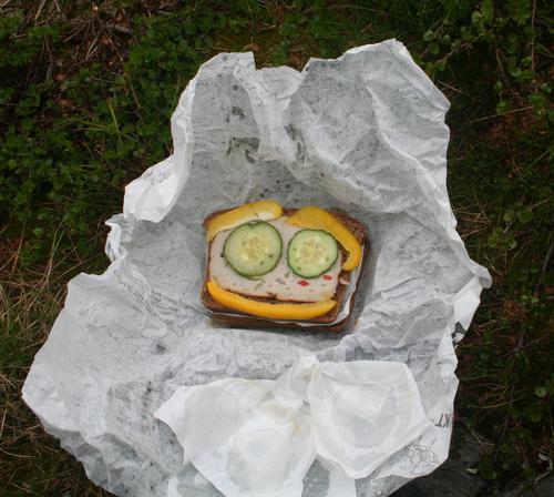 Viktig med god matpakke på tur! Foto:Fredrik Emil Juul
