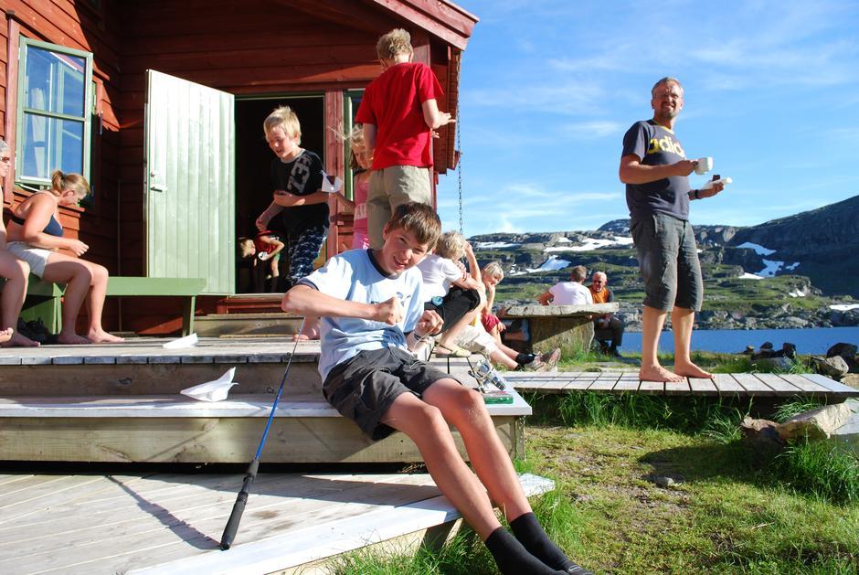 Sol og sommer på Stranddalen.