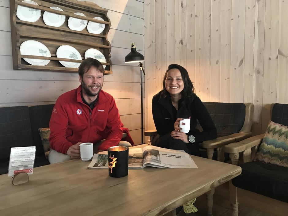 Ny bestyrer, Håkon Aarthun og ny resepsjonssjef, Dagmara Wieczysta