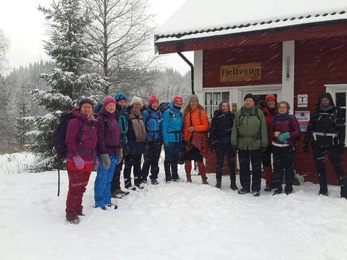 Gruppebilde , tur med Vandregruppa til Fjellvang desember 2017