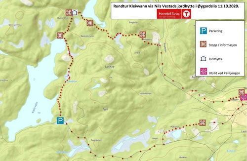 Bli med på historisk rundtur frå Kleivvann til Øygardslia søndag 11. oktober