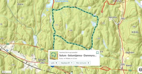 Ukas tur (25) - Solum - Solumtjønna - Dammmyra - Solum