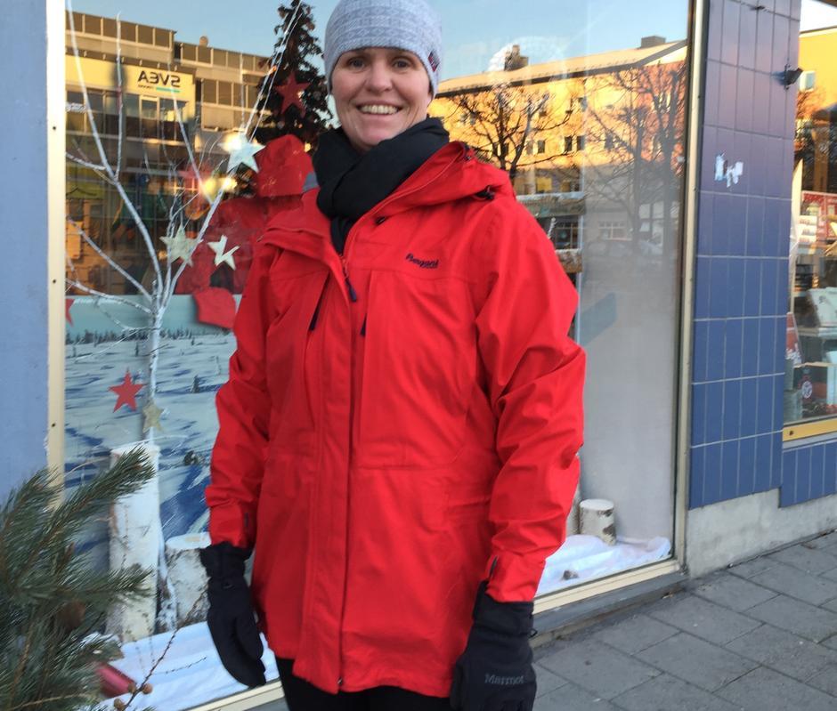 Snøhetta jakke rød