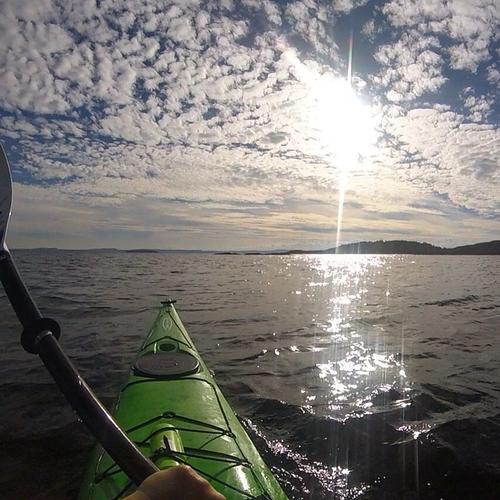 Midt i Oslofjorden på utsiden av Tofte i Hurum . Bilde tatt 23 august .
