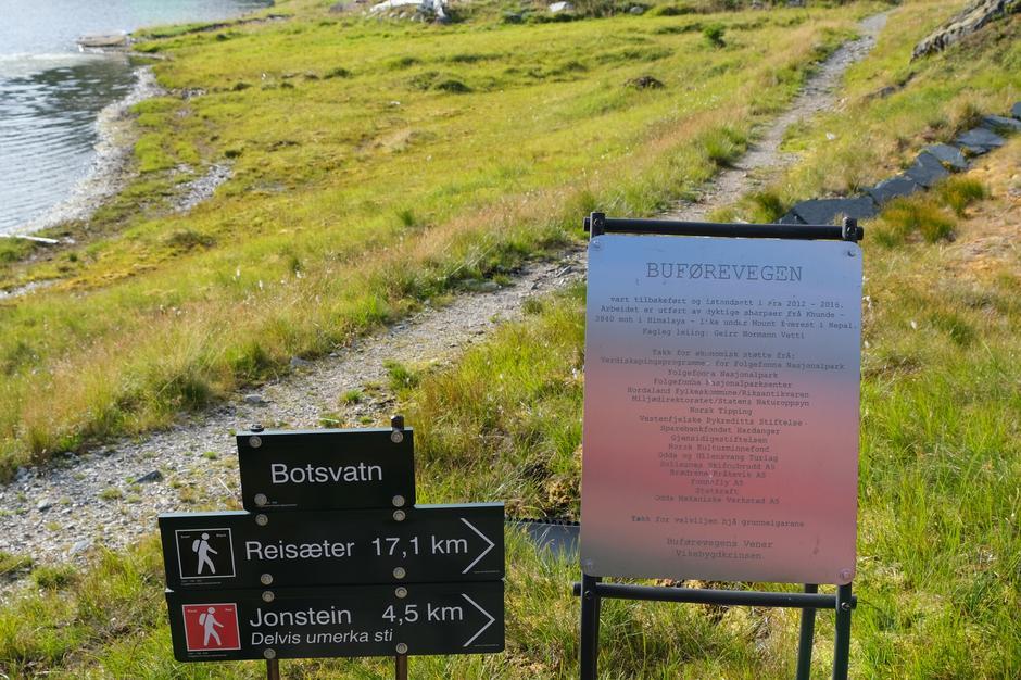 Siste etappe mot Botsvatn.