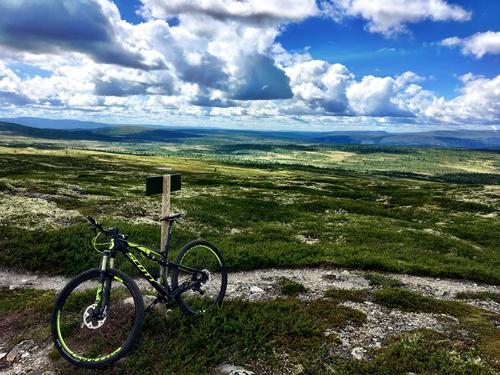 På sykkeltur i Bittermarka på Trysil under arragementet Utflukt