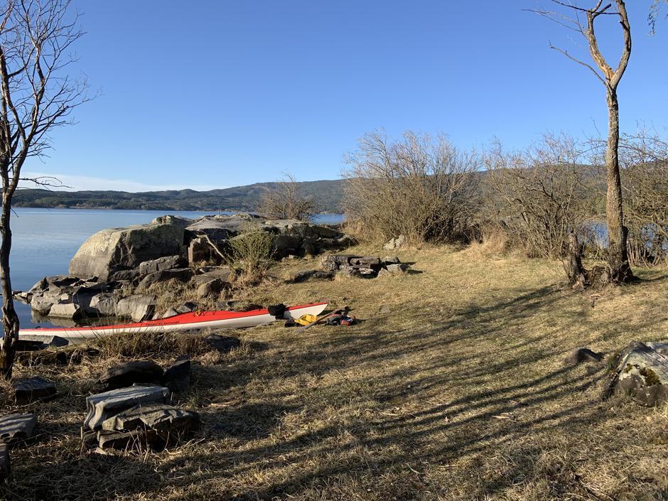 Avskjæret i Steinsfjorden.