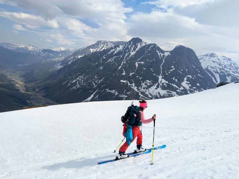 Flott område for skiturer