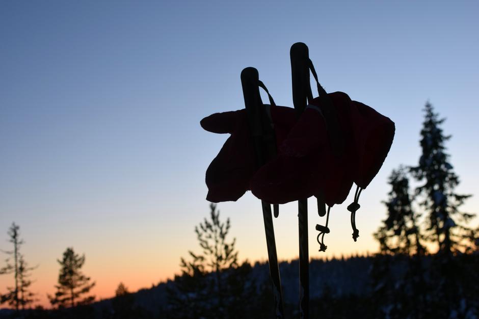 Solnedgang i Skrim