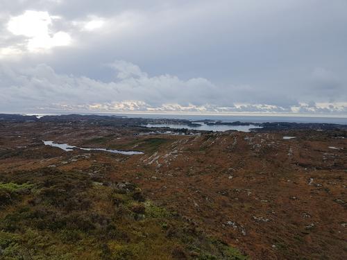 Utsikt frå Saufjellet mot vest.