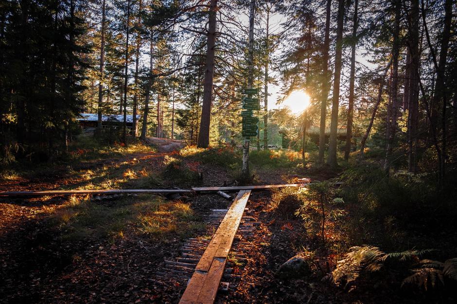 Solnedgang ved Småvannsbu