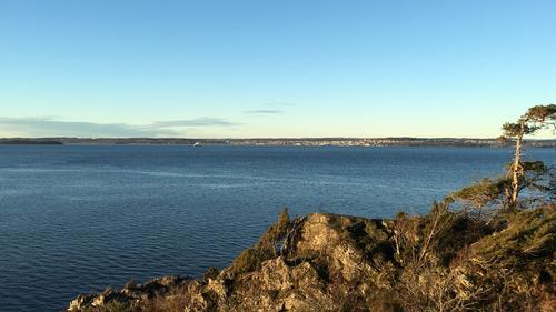 Utsikt fra Jeløya mot Horten