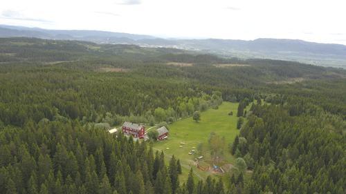 Dronefoto over Rønningen.