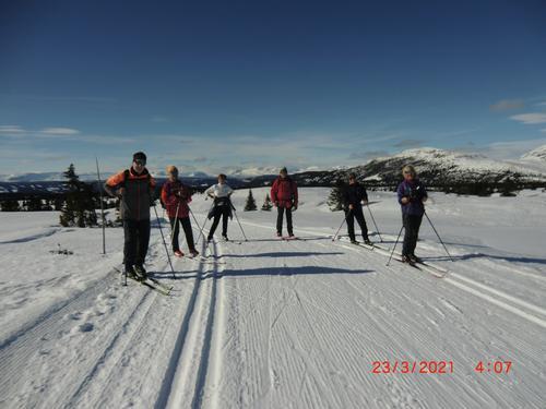 23. mars hadde Seniorgruppa skitur over Skardåsen