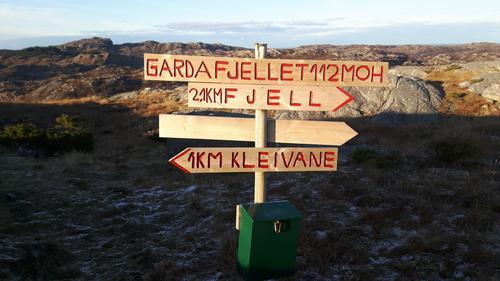 På toppen av Gardafjellet