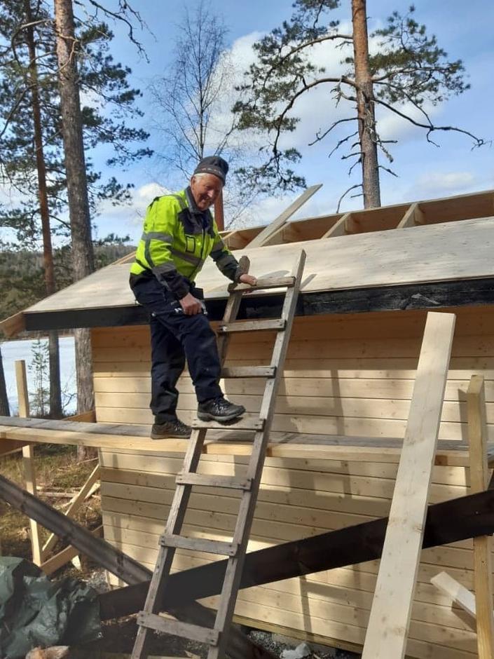Byggeleder Kjetil Sudgarden under arbeid