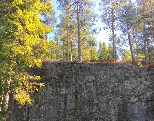 Langveggen er en helt spesiell fjellformasjon i Hakadal