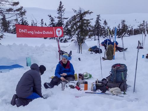 Snøhuletur på Blefjell