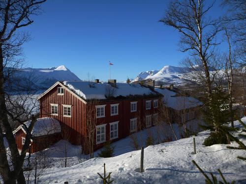 Vakre Gjevilvassdalen er et populært sted for barnefamilier i vinterferien