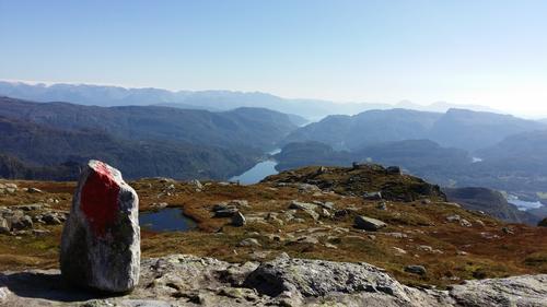 På veg opp Kjerringafjell