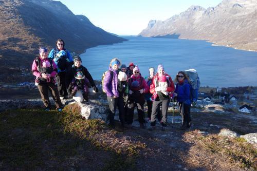 Alle deltakerne på Nattmålsfjellet fra en tidligere tur med BT mini