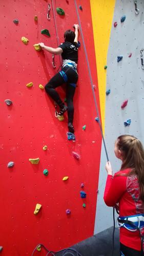 11. januar hadde DNT ung klatrekveld