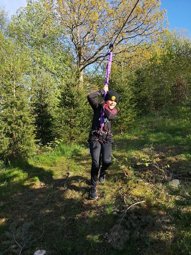Zipline på Tellevikflaten Gård
