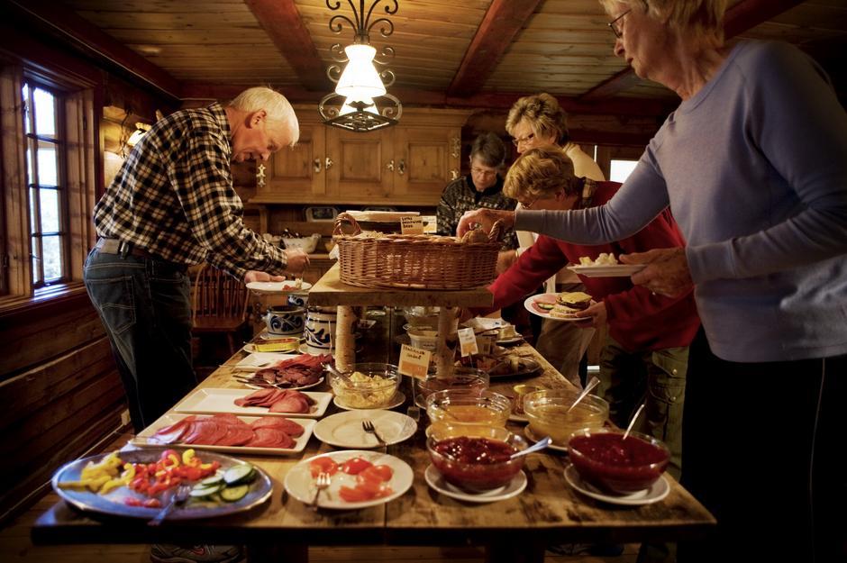 frokost på Sota Sæter. Foto Marius Nergård Pettersen