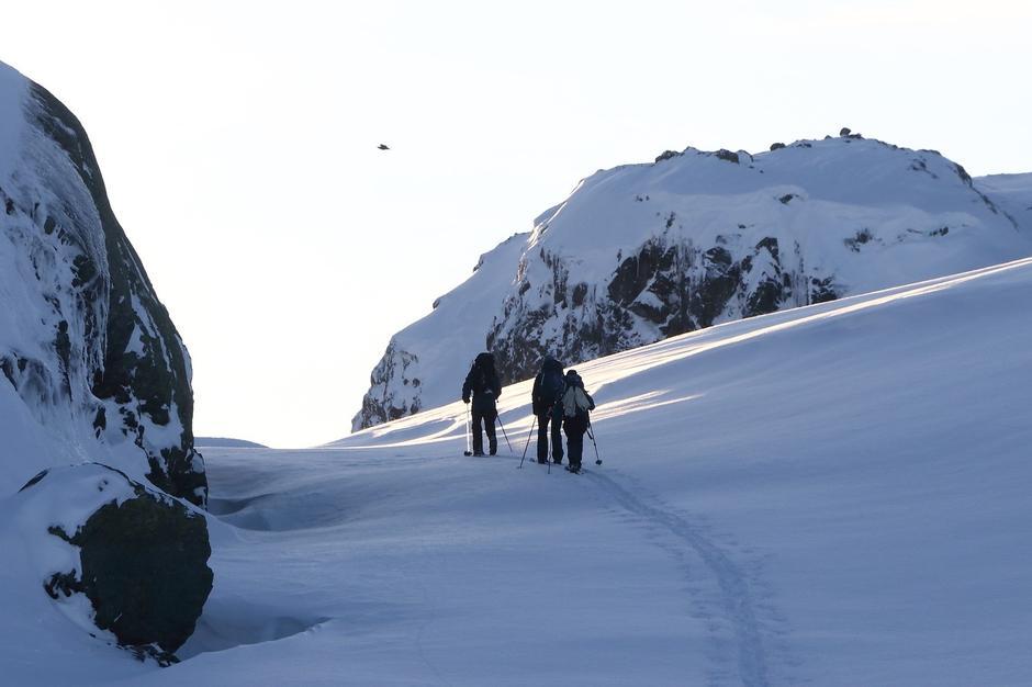 Turistskaret  ved Haukeliseter 1350  moh.