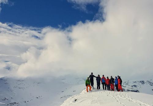 Fjellsportgruppa på tur til Steikfjellet