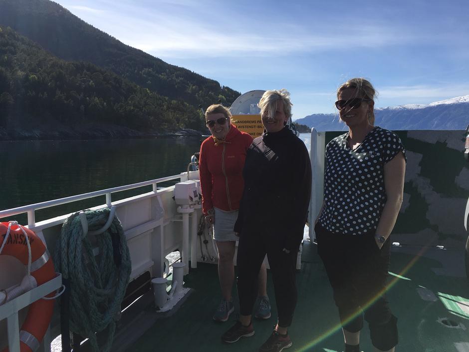 På båten frå Sylvarnes til Vik