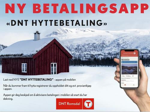 Ny betalingsapp for hytteopphold!