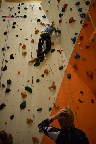 Klatring i vår nye flotte klatrevegg!