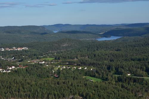 Utsikt fra Braknesheia