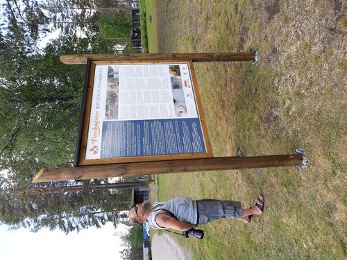 Åpning av første informasjonsstativ langs Finnskogleden